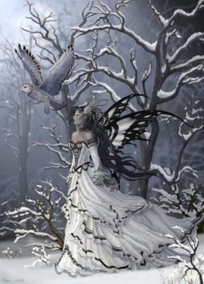 belle-image-femme-neige-robe-oiseau-flora