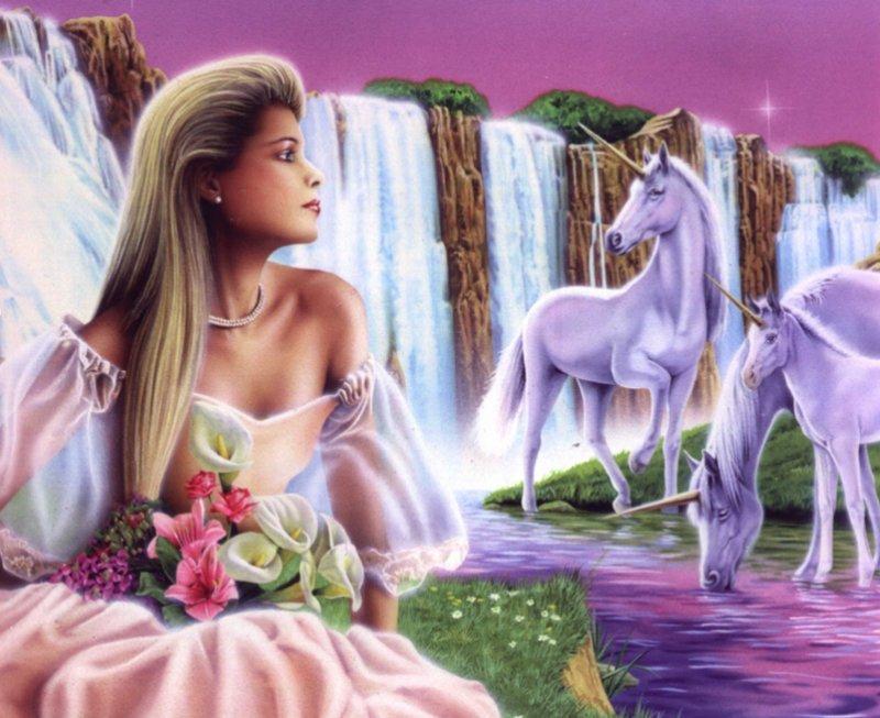 belle-image-femme-et-licornes-flora