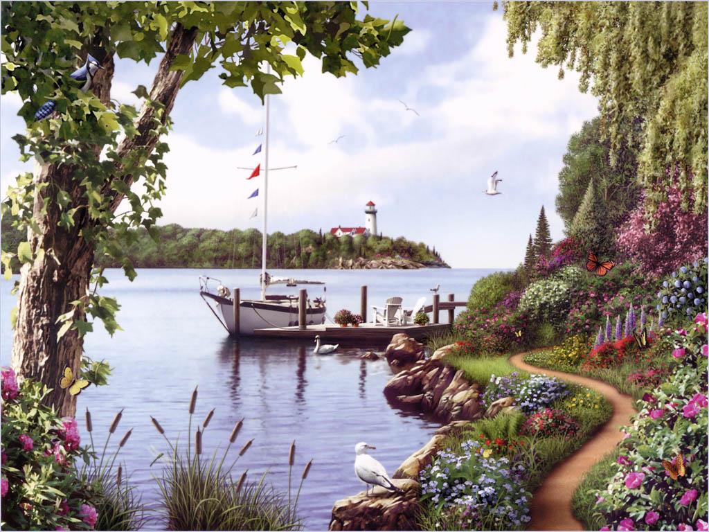 beau-paysage-de-reve-mer-ouiseau-bateau-flora