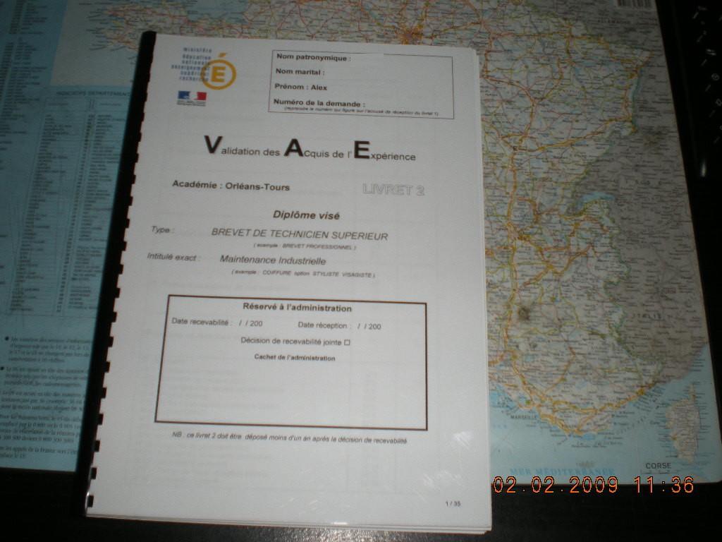 VAE BTS Maintenance Industrielle - livret 2 - Page 7